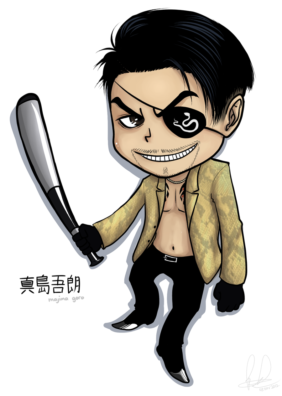 Yakuza Drawing Yakuza - chibi majima byYakuza Tattoo Drawing