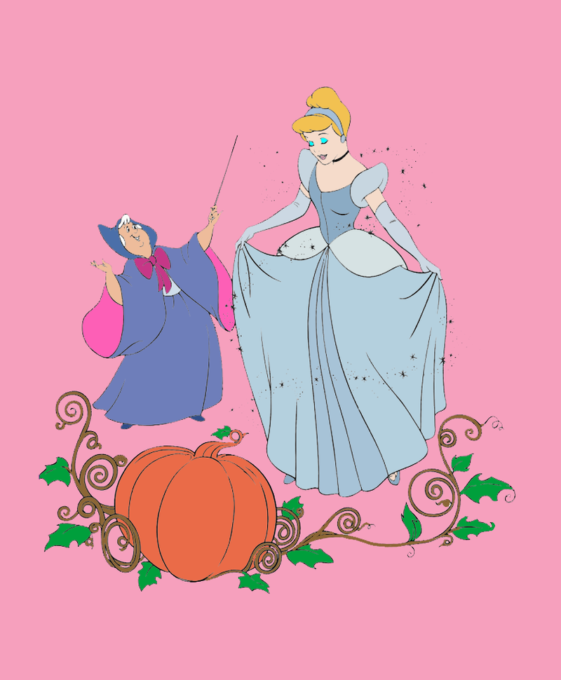 Cinderella with her Fairy God-Mother by Zanny-Marie