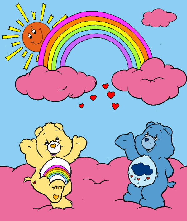 Rainbow and Grumpy Bear by Zanny-Marie on DeviantArt