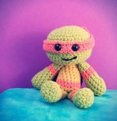 TMNT Mikey Crochet Doll
