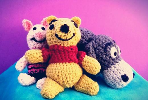 Winnie the Pooh Crochet Dolls