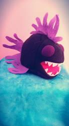 Plush Chompy Fish black/purple