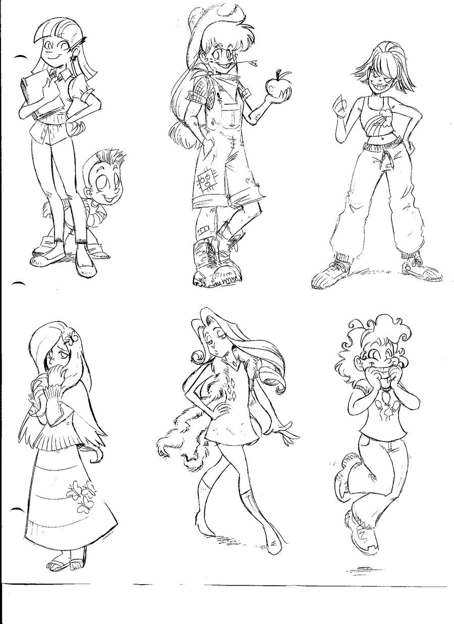 My Little Pony Human Versions by EnvySkort