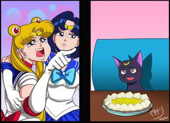 Woman Yelling at Cat Meme - Sailor Moon