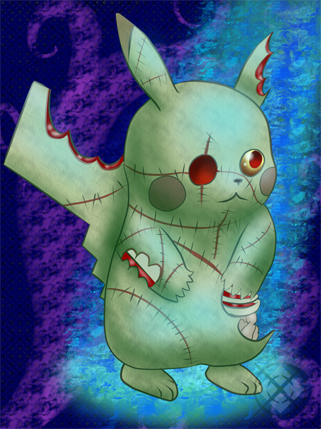 Throwback art: Larry the zomby pikachu by molingirl