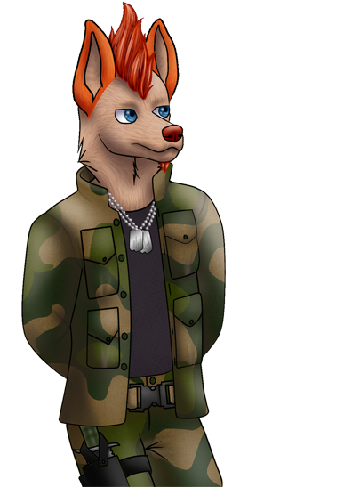 Dogtag bust by molingirl