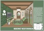 Modernist Mediterranean Living Room