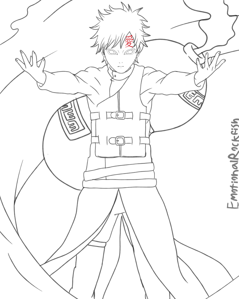 gaara coloring pages - photo#44