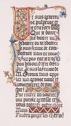 Medieval calligraphy by maxenceraphael