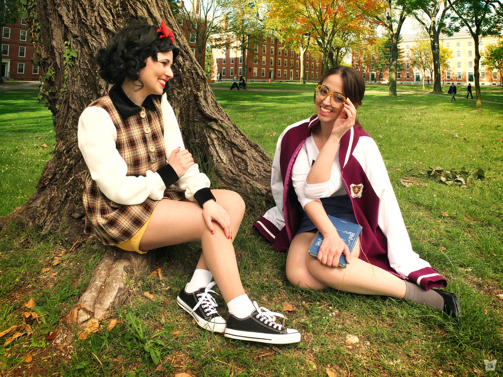 Hyung86's Disney University Snow White and Belle by falketta