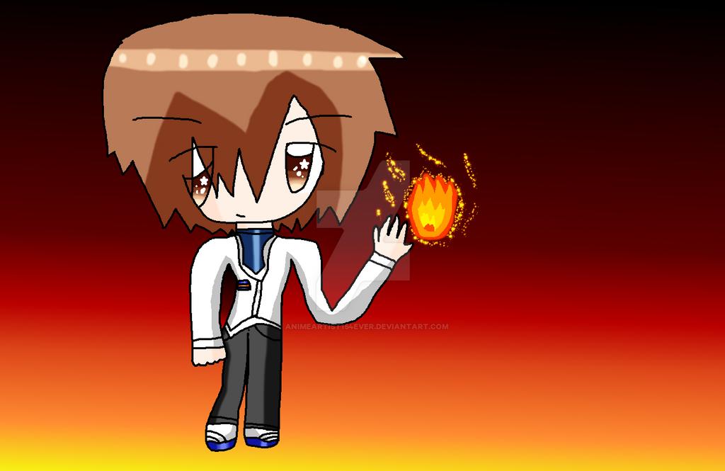 Satoshi Mochida Wielder of Fire by AnimeArtist154ever