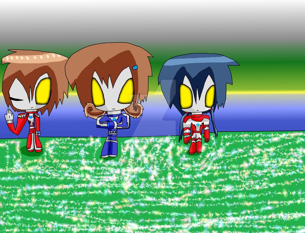 The Kisaragi Ultra Hero Trio by AnimeArtist154ever