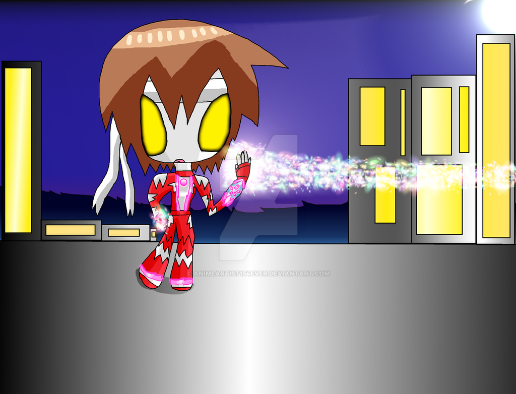 Ultragirl Sakura Battling A Distant Foe RPable by AnimeArtist154ever