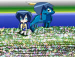 Ayumi and Her Azure Dragon Form by AnimeArtist154ever