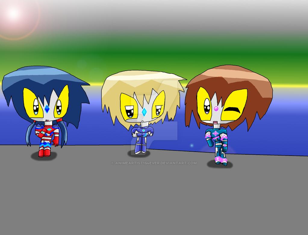 Chibi Ultra Heroes of Kisaragi by AnimeArtist154ever