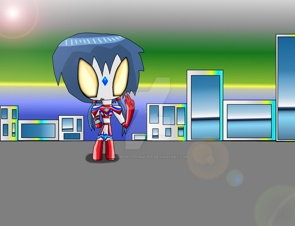 Ultrawoman Ayumi's Victory Pose by AnimeArtist154ever