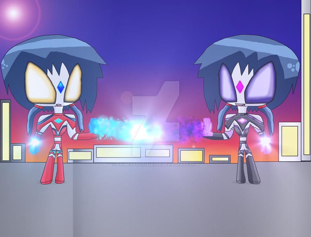 Ultrawoman Ayumi VS. Dark Ultrawoman Ayumi by AnimeArtist154ever
