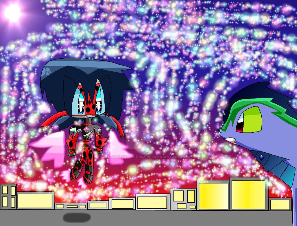 Mecha Ladybug battles Kaikin by AnimeArtist154ever