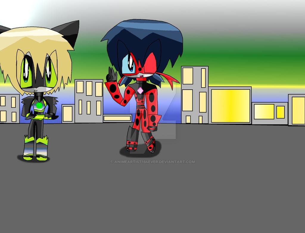 Mecha Ladybug and Mecha Cat Noir by AnimeArtist154ever