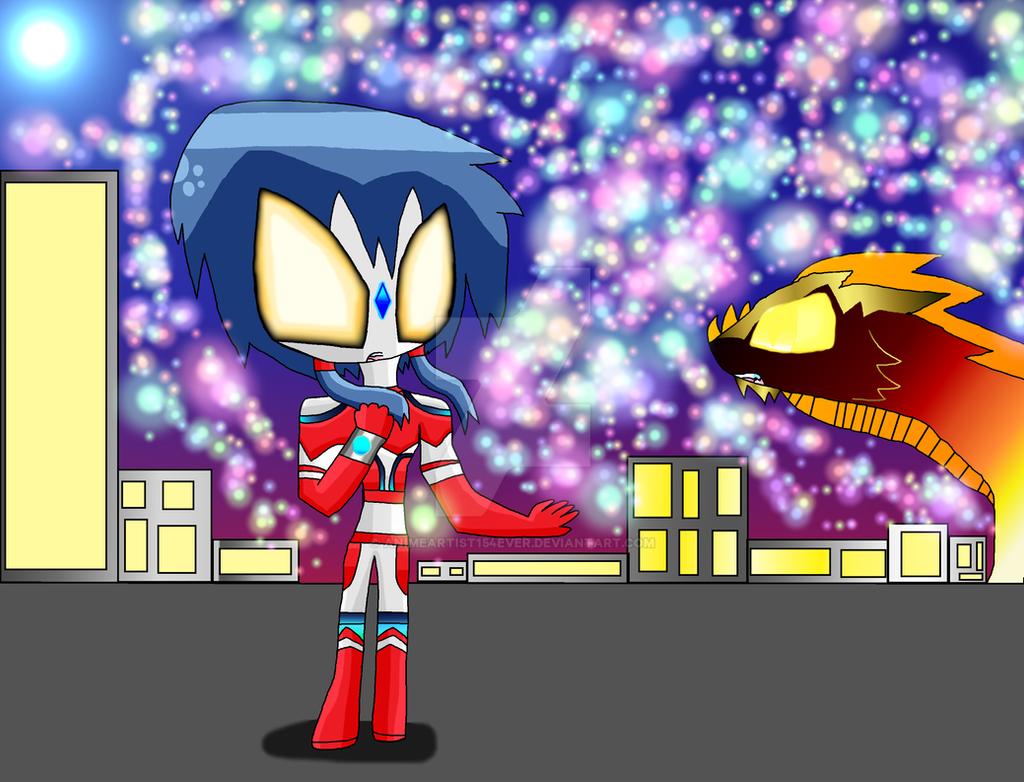 Ultrawoman Ayumi Ready to Battle Yogan by AnimeArtist154ever