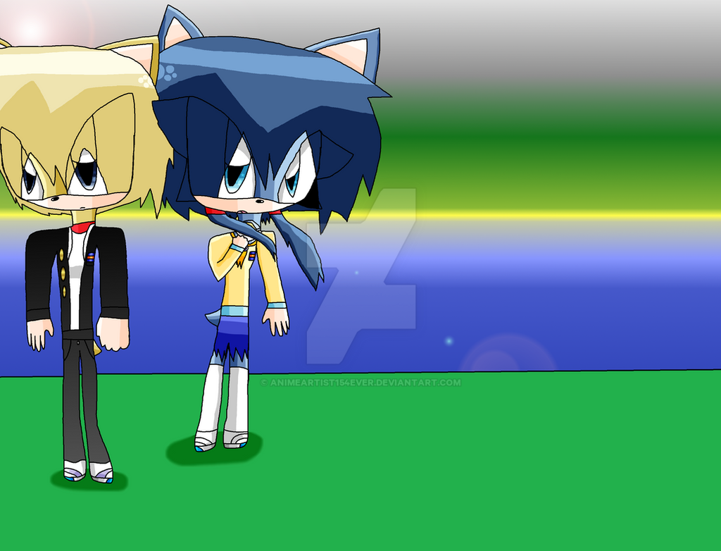 Yoshiki and Ayumi in Sonic Style by AnimeArtist154ever