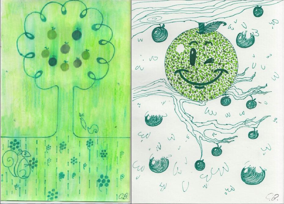 Birthday Card Ilustrations by joyhorse13