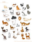 A ton of cats