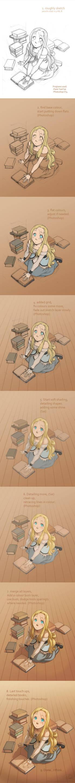 Goldie step-by-step