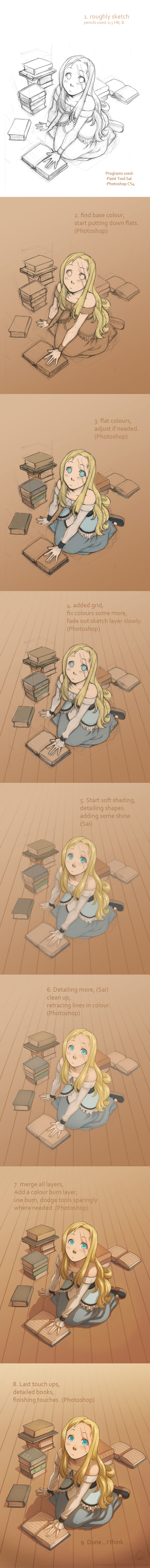 Goldie step-by-step by Zombiesmile