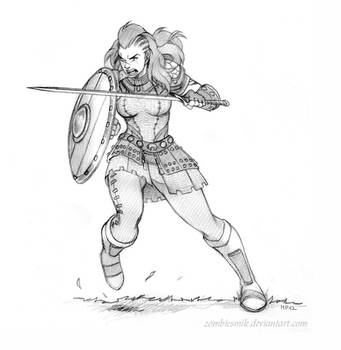 Norn Warrior sketch by Zombiesmile