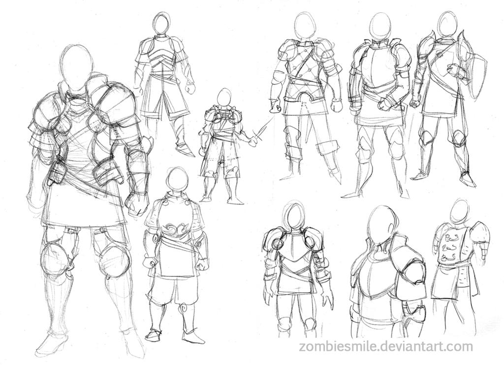 Armour sketches by Zombiesmile