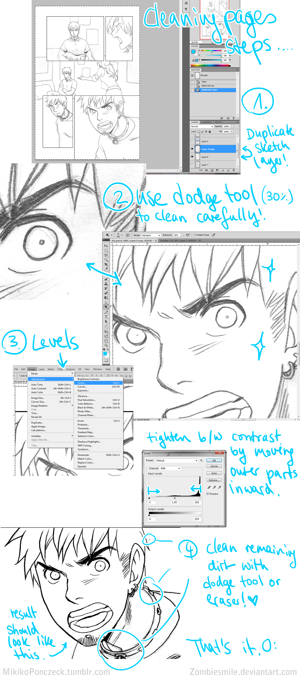 Sketch to inks tutorial photoshop by zombiesmile on deviantart sketch to inks tutorial photoshop by zombiesmile baditri Image collections