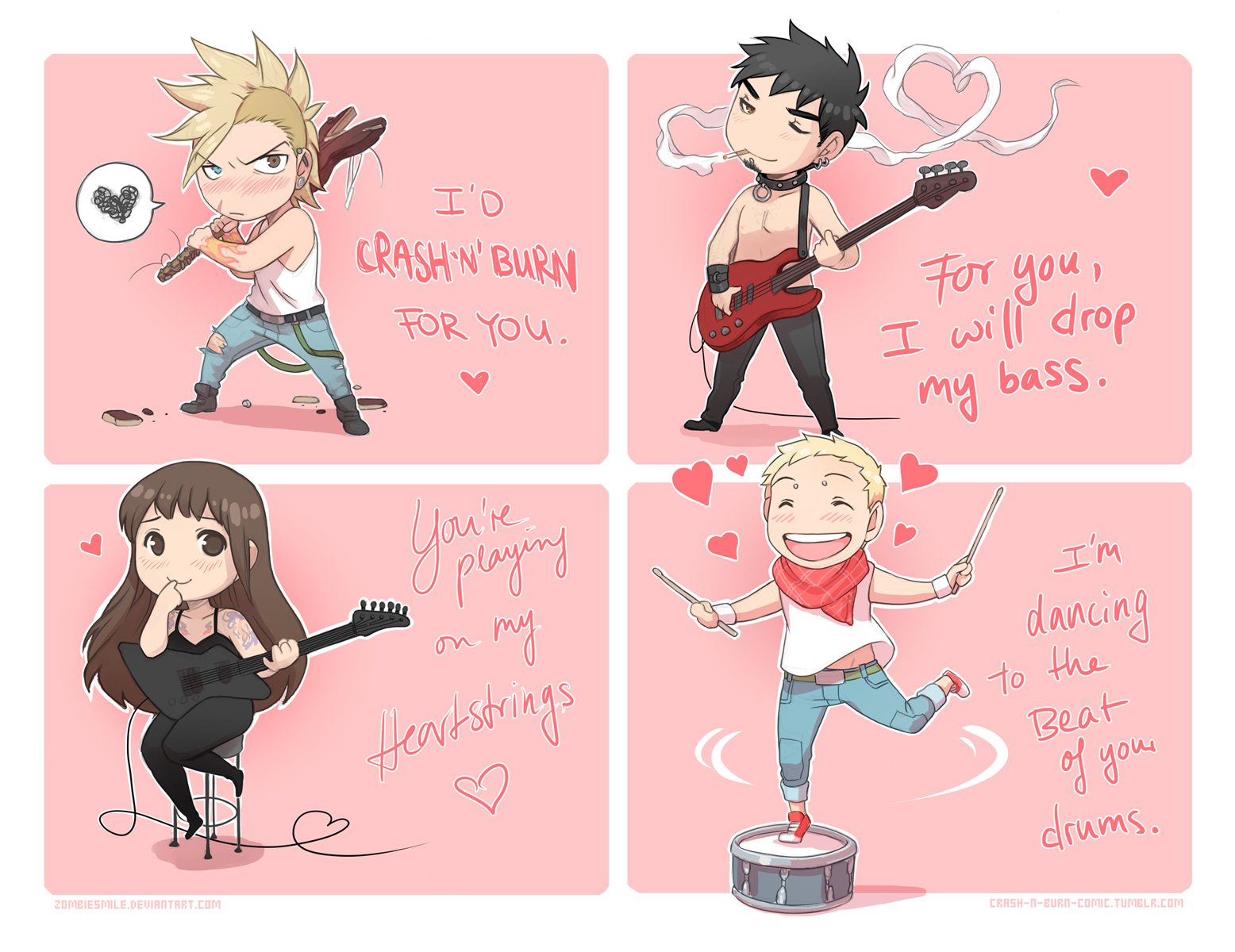 Musical Valentines - Crash'n'Burn by Zombiesmile