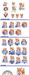 Taekwondo Fox Mascot Design Process by Zombiesmile