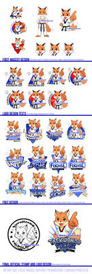 Taekwondo Fox Mascot Design Process