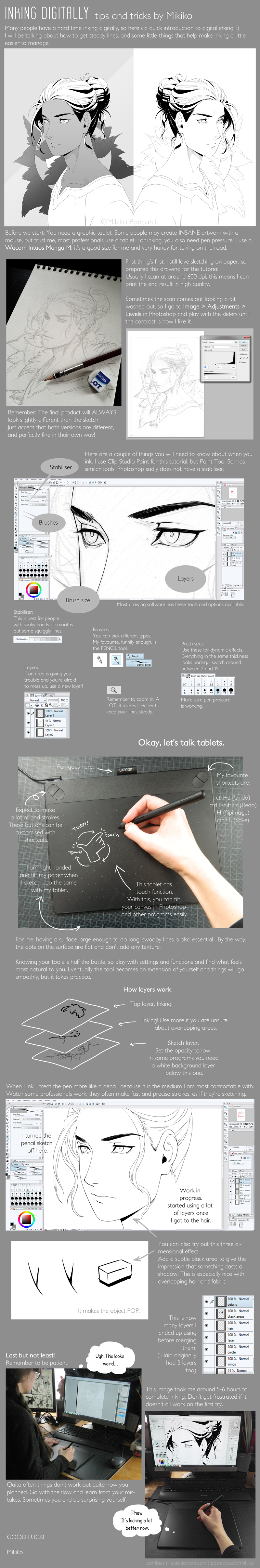 Inking Digitally - tips and tricks