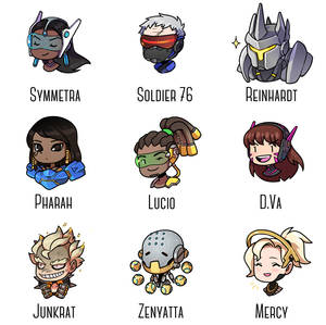 My most played OW heroes