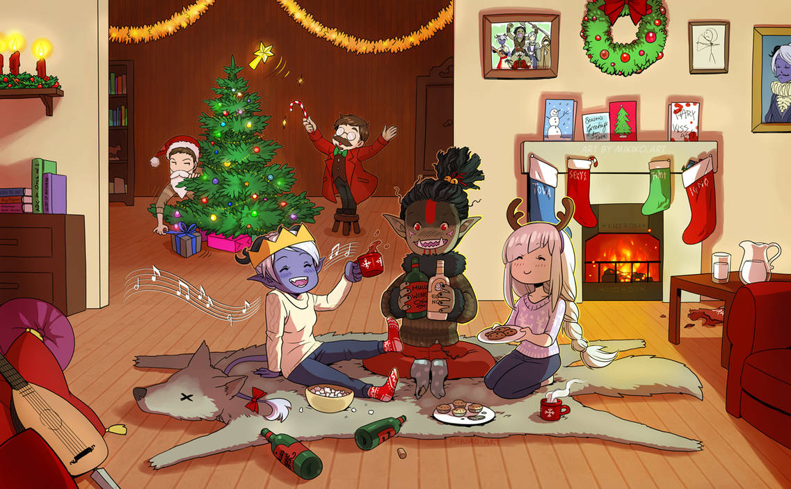 Merry Critmas! DnD art by Zombiesmile