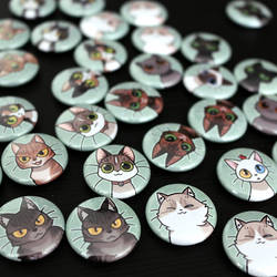 Cat magnets! by Zombiesmile