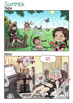 Then and Now: Summer