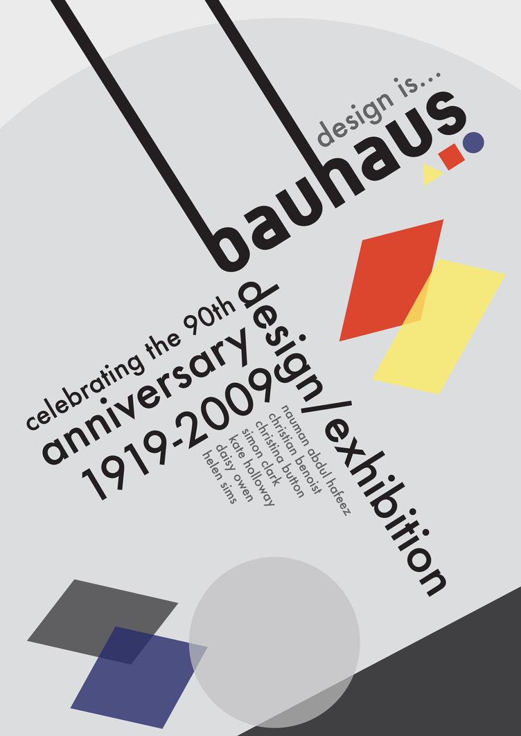 Bauhaus poster concept 1 by niftygibbon on deviantart for Bauhaus design shop