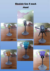 Bionicle gen 2 mask stand/holder