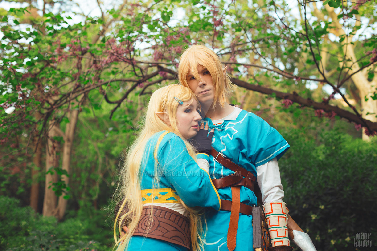 Zelda And Link Zelda Breath Of The Wild Cosplay By Yuuen88