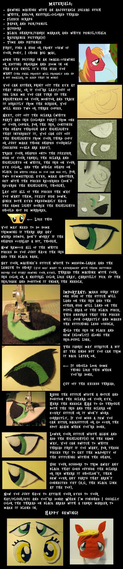 How I make fleece pony eyes (tutorial) by Like-a-Surr