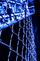 Cage in blue shade color