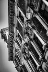 Building architecture in perspective (BW)