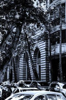 Cold Blue Color Edition Building View