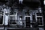 Balcony in darkness style (Monochrome) by naraphoto