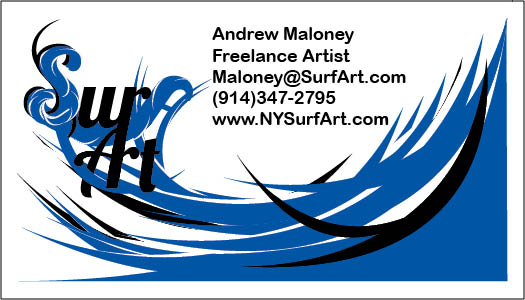 Ny SurfArt Business Card by Gosaiah