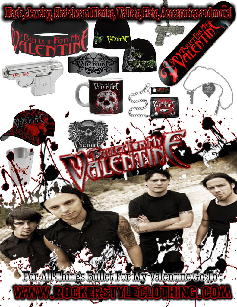 Bullet For My Valentine Merch By RockerStyleClothing ...
